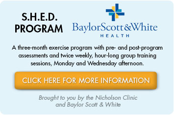 SHED Program is a three-month exercise regimen designed especially for pre-surgical bariatric patients who are just beginning their wellness journey, as well as postsurgical bariatric patients who have been approved by their physicians to begin exercise.