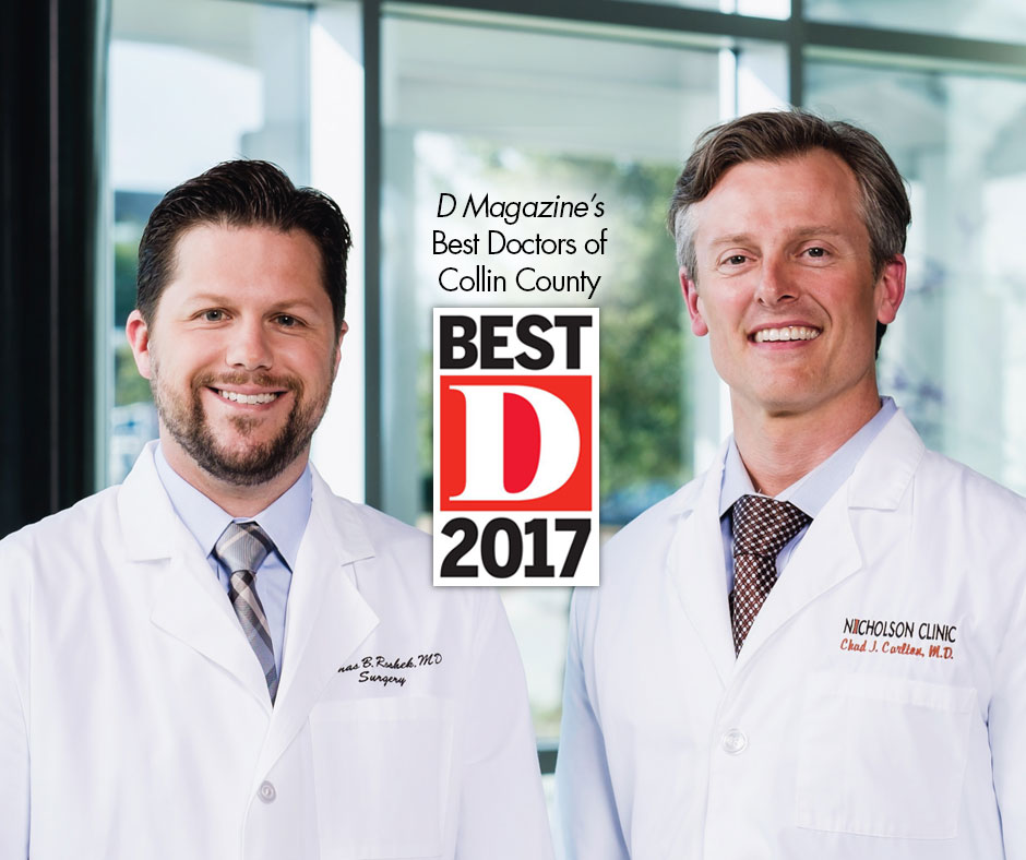 "Dr. Thomas Roshek and Dr. Chad Carlton Named D Magazine's ""Best Doctors"" of Collin County"