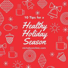healthy holidays, nicholson clinic, weight loss