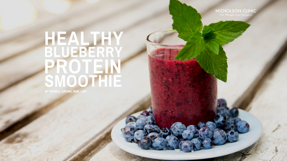 healthy blueberry kale smoothie
