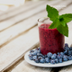 healthy blueberry kale protein smoothie