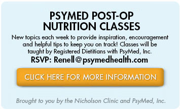 PsyMed Post-Op Nutrition Classes